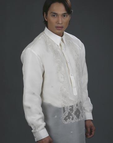 Mybarong Mens Barong Tagalog 100483 Cream