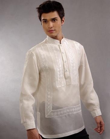 Mybarong Mens Barong Tagalog 100661 Cream