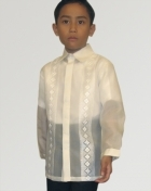 Boys' Barong Cream Jusi fabric 100160 Cream