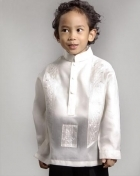 Boys' Barong Cream Jusi fabric 100370 Cream