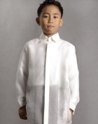 Boys' Barong Cream Jusi fabric 100679 Cream