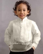 Boys' Barong Cream Corinthian Organza 100749 Cream